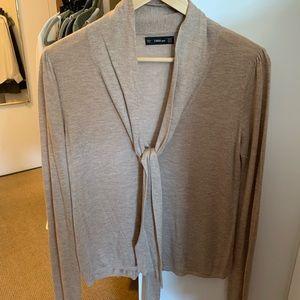 Zara knit tie-front lightweight sweater